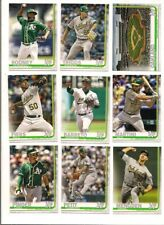 2019 Topps Oakland A' Baseball Card Complete Team Set (22 Diff)