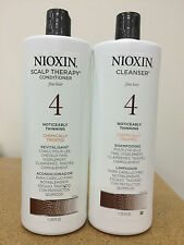 Nioxin System 4 Cleanser Scalp Therapy Duo Set Shampoo Conditioner 33.8oz Liter