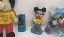 New listing Mickey Mouse Vtg Toy Lot Disney Figurine, Plush, McDonalds toy, Bookmark Minnie