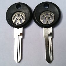 (2) Volkswagen VW Logo Inlay 411 412 Rabbit GTI Golf Blank AH Aftermarket Keys