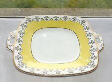 Thomas Poole Royal Stafford 1930s Bone China Cake Plate 4985 Yellow