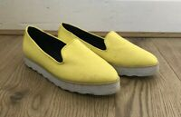 Topshop Women Shoes Size 6 Canary Yellow Platform Flats Slip On