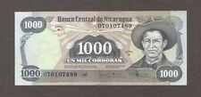 1985 1000 CORDOBAS NICARAGUA CURRENCY AUNC BANKNOTE NOTE MONEY BANK BILL CASH AU