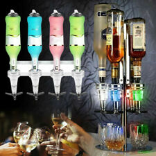 4  Bottles Rotary Stand & Wall Mounted Optic Drink Dispenser Party Bar Butler