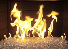 """25 Lbs CLEAR FIREGLASS Fireplace Fire Pit Glass ~1/8""""-3/16"""""""