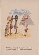 Nell'interno della tenda c'é un soldato Inglese , non viaggiata.