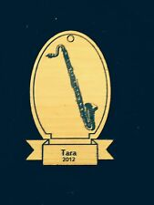 Personalized Bass Clarinet Wooden Christmas Ornament (FREE SHIPPING)