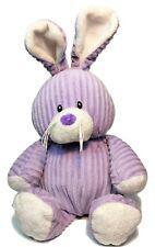 "Ganz Bunny Rabbit RARE Purple Ribbed Corduroy Cutie Rattle Plush Animal 12"" Toy"