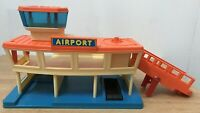 Vintage Playmates 1984 Airport Watchtower With Fuel Vehicle & Helicopter,