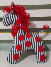 KATE FINN BLUE WHITE RED GIRAFFE PLUSH TOY! SOFT TOY ABOUT 26CM TALL KIDS TOY!