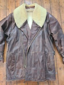 Vintage Gents Giorgio Armani Leather Flying Jacket - 48 inch Chest - no reserve