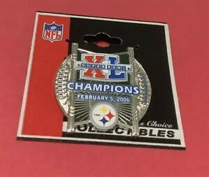 SUPER BOWL XL (40) PITTSBURGH STEELERS CHAMPIONS NFL PIN