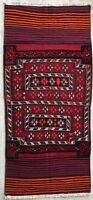 3X7 1970s BAKHTIARI PERSIAN RUG RUNNER ANTIQUE AUTHENTIC VINTAGE HAND MADE WOOL