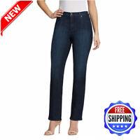 Gloria Vanderbilt Ladies' Amanda Stretch Denim Jeans- Dark Blue 100% Genuine