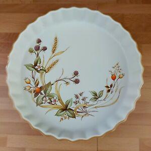 Vintage St Michael M&S HARVEST Pattern. Fluted Flan Dish 24 Cms Wide.
