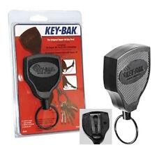 KEY-BAK USA Heavy Duty Retractable Key Reel-Steel Belt Clip,Kevlar Cord -S48K