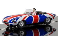 Scalextric Jaguar E-Type Union Jack - NEW TOOLING 1:32 slot car C3878