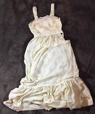 True Vintage Sundress Small Prairie Maxi Yellow Floral Yoke Hippie Boho Style
