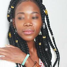 Dreamtop 200 Pieces Aluminum Hair Coil Dreadlocks Beads Metal Hair Cuffs Hair Br