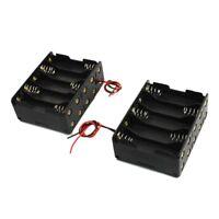 SODIAL (R) 2 Stueck Kunststoff Batterie Halter 10 x 1.5V AA - Schwarz E OE