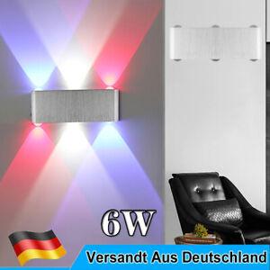 RGB 6W LED Wandleuchte Beleuchtung Flurlampe Innenlampe Treppenhaus Wandlampe DE