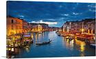 ARTCANVAS Grand Canal at Night Venice Italy Canvas Art Print