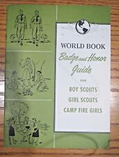 Vintage 1954 World Book Badge and Honor Guide for Boy Scouts and Girl Scouts