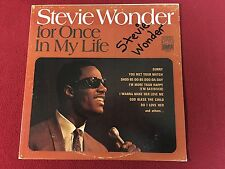 STEVIE WONDER FOR ONCE IN MY LIFE SIGNED VINYL LP ALBUM PROOF