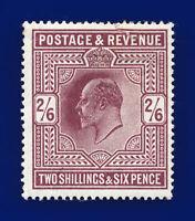1911 SG316 2s6d Dull Reddish Purple M50(2) Mint Full Gum Cat £ 300 dbmk