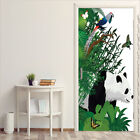 Removeable Panda Poster Door Mural Self-adhesive Door Sticker Home Decor