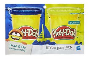 Play-Doh Grab N Go Compound Bag (Blue & Yellow)