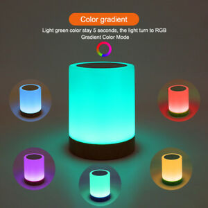 USB Rechargeable Touch LED Night Light Bedside Desk Lamp Table Mood Dimmable