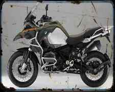 Bmw R1200Gs Adventure 14 4 A4 Metal Sign Motorbike Vintage Aged