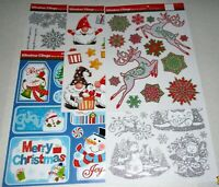 Christmas Window Clings Assortment  #4  {Your Choice}