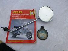 Vintage Vespa Mirror, Haynes Manual & Old Tax Disk Holder Bundle