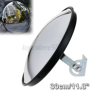 """30cm 12"""" Wide Angle Security Curved Convex Road Traffic Mirror Driveway  Q"""