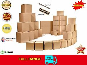 """10 STRONG SINGLE WALL CARDBOARD BOXES 12""""x9""""x5"""" Mailing Packing Postal Removal"""
