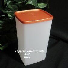 Tupperware New Tall Square Round Rounds Freeze It Container Bronze Seal
