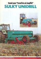 Farm Equipment Brochure - Sulky - Unidrill - Semoir - 1992 (F1530)