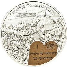 Rare 2011 Palau Proof Color Silver $2 Bible 10 Commandments-Box-mintage 1000