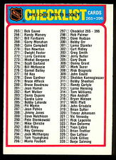 1978 79 OPC O PEE CHEE HOCKEY 297 CHECKLIST UNMARKED EXNM 265-396 WITH FREE SHIP
