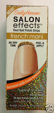 SALLY HANSEN SALON EFFECTS REAL NAIL POLISH STRIPS ( GOLD CABARET ) FRENCH MANI.