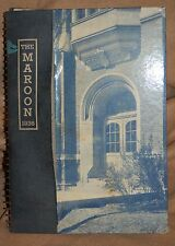 Hirsch High School Yearbook 1936 Chicago Illinois the Maroon Autographs signed