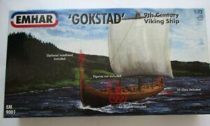 NEW Emhar 9001 Gokstad 9th Century Viking Ship 1:72 Scale Kit