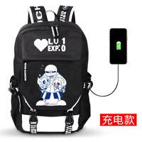 Anime Undertale Unisex Backpack School Bag Harajuku Shoulder Bag Cosplay Gift#T