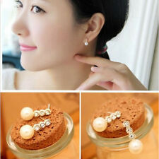 1 pair New Fashion Women Lady Elegant pearl Rhinestone Ear Stud Popular Earrings