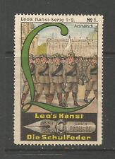ALLEMAGNE/Leipzig Leo's HANSI schulfeder Publicité TIMBRE/LABEL (Boy Scouts #1)