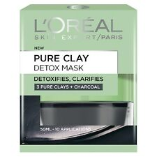 L'Oreal Paris Pure Clay Detox Charcoal Mask 50ml, Black 50 ml