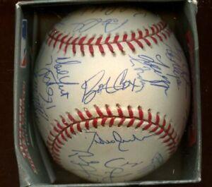 1997 Atlanta Braves Team Signed ONL Coleman Baseball 30+ Signatures