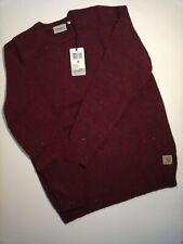 Carhartt Anglistic Sweater ORIGINALE Merlot Maglione Bordeaux